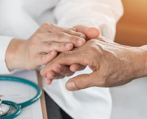 A patient seeing a Medicare doctor for chronic pain management