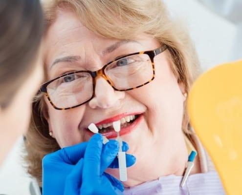 A patient receiving Medicare dental services